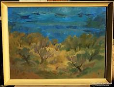 Zielinsky Erzsébet ( 1937- ) Öszi táj képcsarnokos festménye