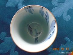 Kézzel festett sziklás tengerpart és bambusz tájképes pohár