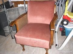 Chippendél barokk ratános fotel két darab