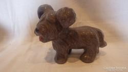 Iparművész kerámia kutya szobor
