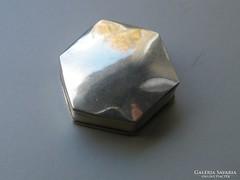 Ap 395 - Ezüst hatszögletű szelence doboz ékszertartó