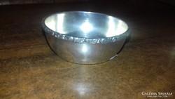 Ezüst kis méretű teafilteres tálka