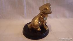 Réz kutya szobor