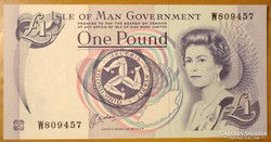 Isle Of Man Government  One Pound  UNC
