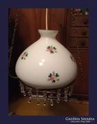 Kézzel festett porcelán csillár,kristály csüngőkkel