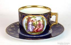 0J751 Antik Altwien porcelán teáscsésze