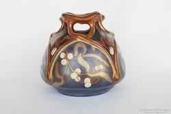 Zsolnay többszínü eozin mázas váza
