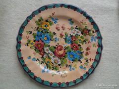 Kézzel festett olasz fali tányér