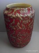 Jelzett Tófej kerámia váza