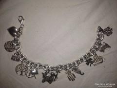 Ezüst zsuzsu karlánc karkötő 925