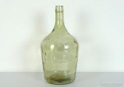 0J002 Antik lencsés üveg demizson 5 L