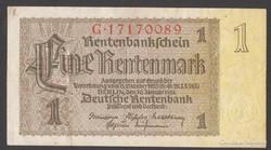 "1937. 1 Rentenmark, ""F"""