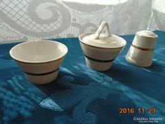Orosz porcelán fűszeres edények-3db