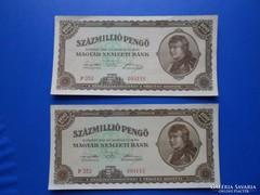 2 darab hajtatlan sorkövető 100 millió pengő 1946