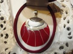 Vörös Nautilusz kagyló - EXTRA MODERN ezüst medál