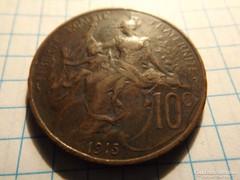 Szép 10 Centimes 1915  !!