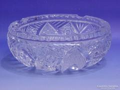 0K352 Vastagfalú ólomkristály hamutál