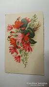 Régi szép virágos képeslap
