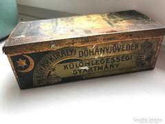 Egyiptomi szivarka fémdoboz, Magyar Királyi Dohányjövedék