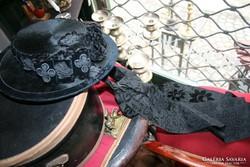 Tiroli antik női kalap