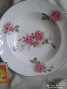 Rózsás fali dísz tányér