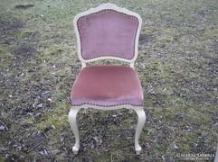Chippendél barokk két darab szék törtfehér