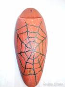 Iparművészeti szignált fali kerámia váza