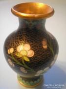 Antik chínai  Rekesz zománc Díszítésű Váza ritkaság U7