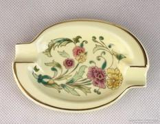 0K777 Régi Zsolnay porcelán vajszínű hamutál