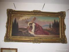 Krisztus a kereszttel festmény olaj vászon 150x180 cm !