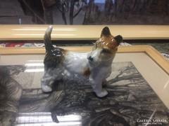 Régi ens porcelán kutya eladó