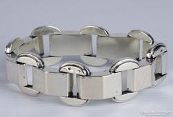 0K294 Régi ezüst art deco karlánc 19 cm