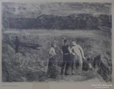"""0L079 Szőnyi István : """"Duna partján"""" 1933"""