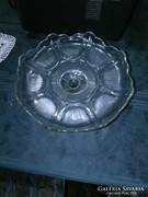 Üveg torta tál