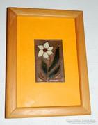 Egy szál virág - tűzzománc kép