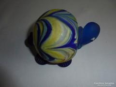 Muranoi üveg teknős béka figura