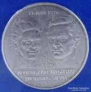 0K972 Carl XVI Gustaf ezüst emlékérme 50 KR 27g