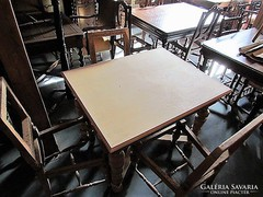 Antik Ó-német asztal + 4db szék