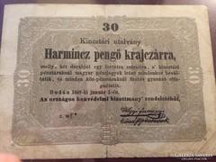 1849. 30 pengő krajcárra