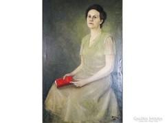 6251 Hatalmas méretű egész alakos női portré
