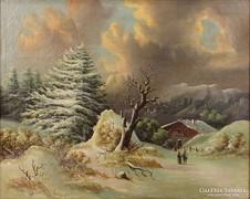 0A086 Jelzés nélkül : Osztrák téli táj