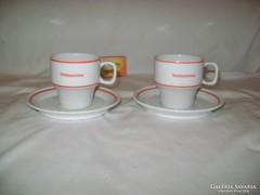 Régi Hollóházi kávés szett párban - BÉKÉSSZÖVKER - gyűjtői