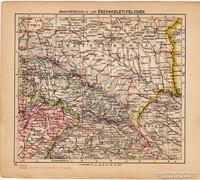 Magyarország térkép IV. 1929, Északkelet - Felvidék, magyar