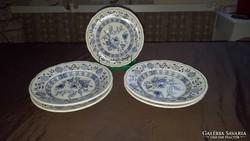 Angol porcelán tányérok+kínáló