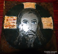 Jézus : tűzzománc kép - kvalitásos művészeti munka