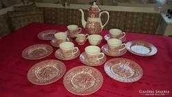 Angol porcelán reggeliző készlet 6 főre