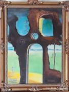 Salvador Dalí: Rom medúzafejjel és tájjal. Reprodukció.