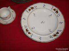Antik porcelán pecsenyés tál, kézzel festett
