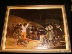 E 10 Goya, 1808 festmény reprodukciója ritkaság 29x22 cm
