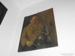 Festmény öreg fazekas